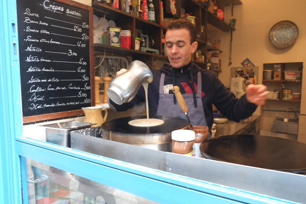 Creparie artisan in the Marais