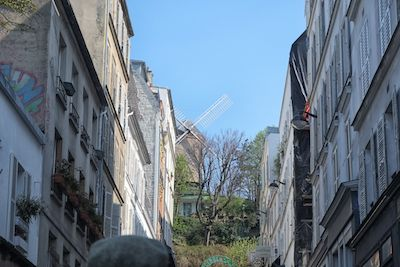 The windmill atop Montmartre symbolizes the innovations in art - impressionism, cubism, that sprang from there.