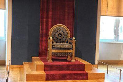 Napolean Bonaparte's Throne when he was emperor