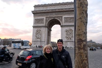 Hugh and Brenda at Place de l'Étoile - Feb 2013