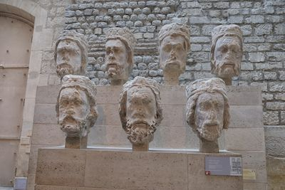 Kings heads from the front of Notre Dame - now at the Cluny Museum