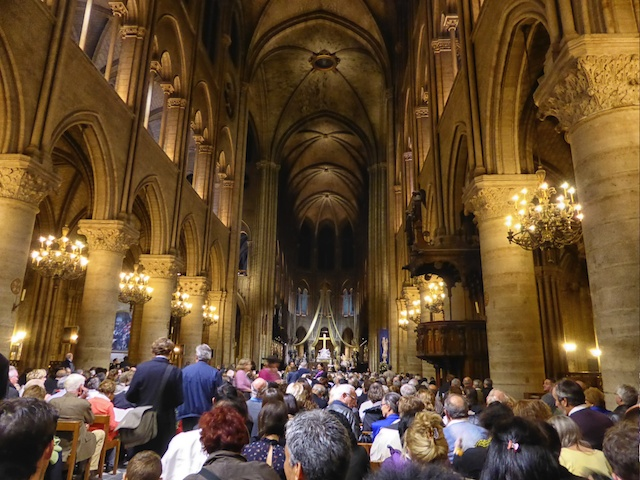 Notre Dame with about 850 people attending the chorale concert.