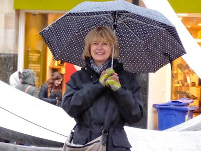 Brenda with her trusty umbrella
