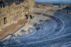 Inside the Roman Amphitheater in Orange
