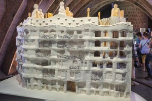 Model of the exterior of Casa Mila