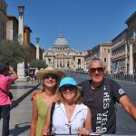 Brenda, Allison, and Dean with Saint Peter's Basilica in the background