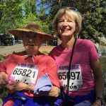 Brenda and Beth resting after Bloomsday