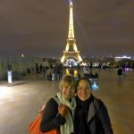 Patty Wilson and Brenda at the Eiffel Tower