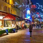 Brenda on Rue Cler at Christmas