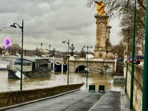 January flooding by the Seine