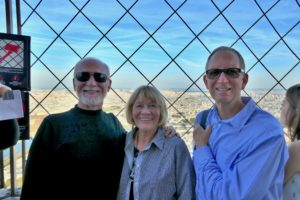 With Kelly and Linda Lunn atop the Eiffel Tower