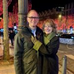 On the Champs Élysées after the holiday lighting ceremony